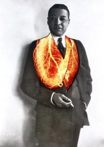 bert williams heart necklace
